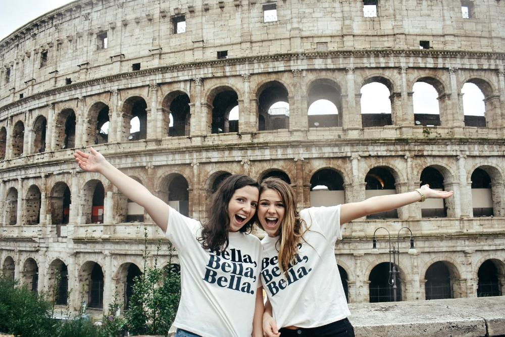 ND students at the Colosseum